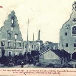Postkarte von der Brandruine