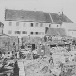 Wiederaufbauarbeiten - Blick nach Norden