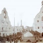 Provisorische Schenkhalle vor dem Rathaus