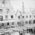 Die Fassade nach dem Brand