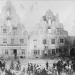Die Fassade nach dem Kuchlbauer-Brand