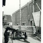 Jakob Kroiß bei den Bauarbeiten