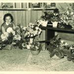 Das Foyer mit Blumen