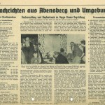 Artikel zum Besuch von Beppo Brem 1957