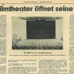 Zeitungsartikel zur Eröffnung