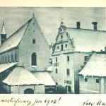 Postkarte Klosterkirche im Winter 1902