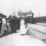 Ankunft des ersten Zuges 1874