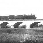 Schnellzuglokomotive auf der Abensbrücke 1922