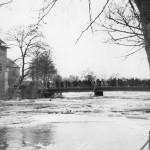 Hochwasser an der Abensbrücke 1954