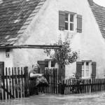 Überflutetes Haus an der Jahnstraße