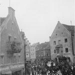 Blaskapelle und Kutsche 1937